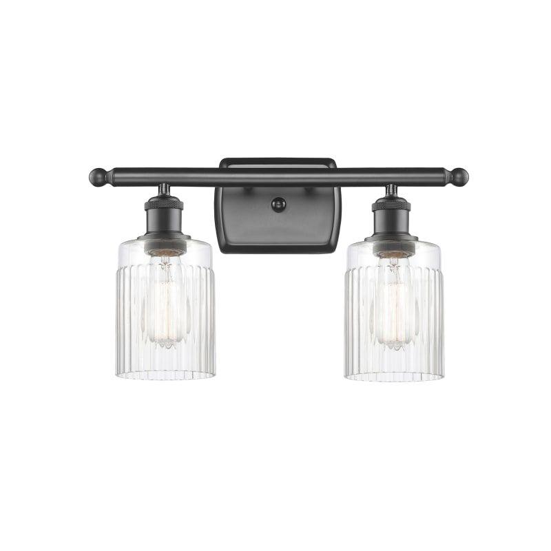 "Photo of Innovations lighting 516-2W Hadley Hadley 2 Light 16 ""wide bathroom vanity light oil oil rubbed bronze / clear interior lighting bathroom fittings vanity"