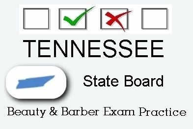 TENNESSEE exam practice for state board in cosmetology