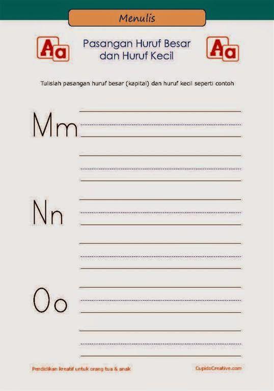 Belajar Anak Huruf Besar Kecil M O Huruf Belajar Tulisan Huruf