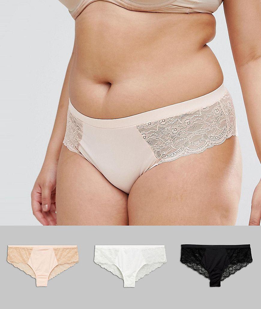 49cb9ad4e6 DESIGN Curve 3 pack microfibre   lace french underwear in 2019 ...