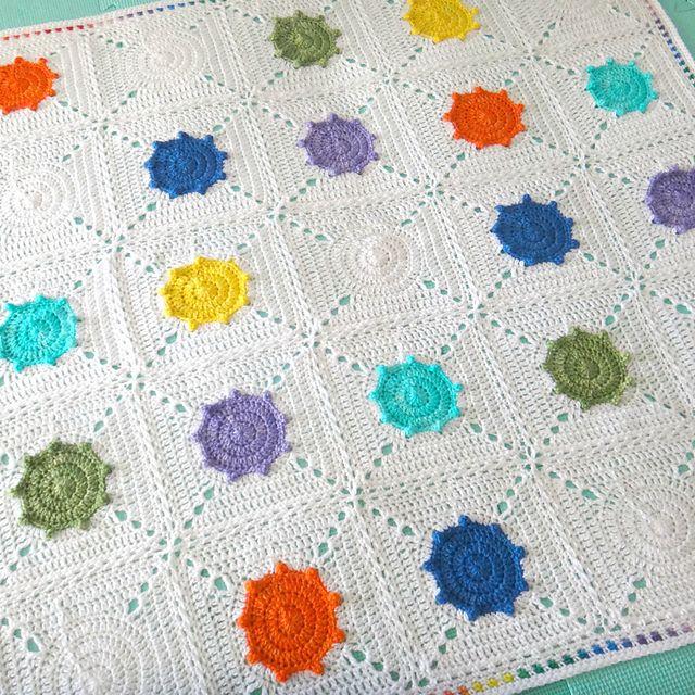 Ravelry: Paint Splash Blanket pattern by Christine Tusch   งานฝีมือ ...