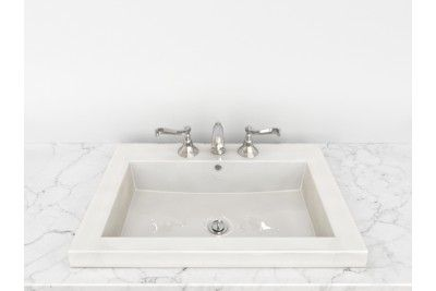 Cantrio Koncepts Ps 187 Vitreous China Semi Recessed Bathroom Sink