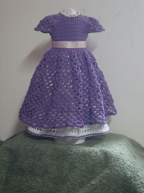 Free Pattern On Ravelry Purpleiris16s Purple Princess Doll Dress