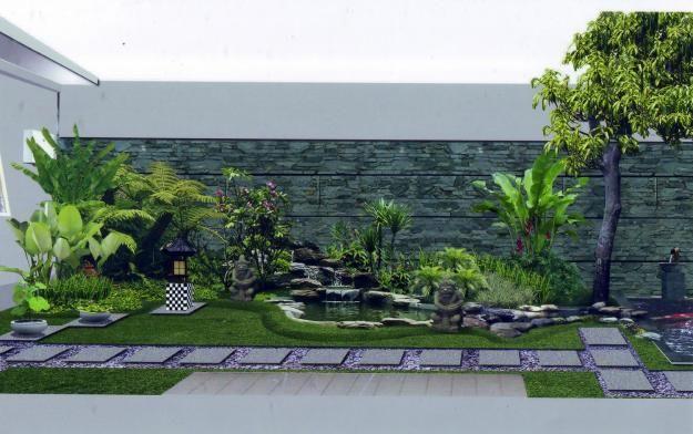 cara membuat taman di lahan sempit desain rumah