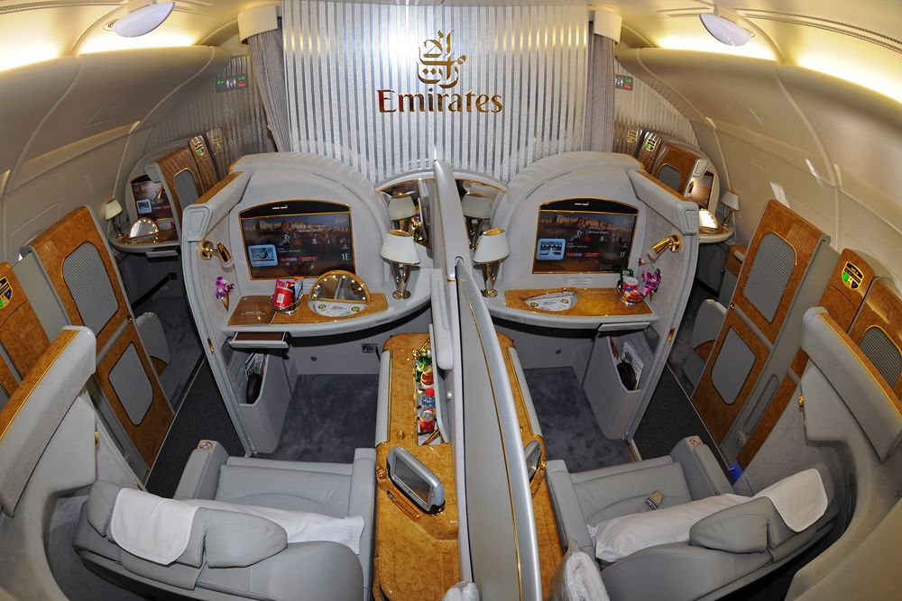 First Class Private Suites are available on all Emirates