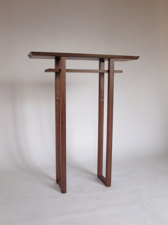 finest selection f756b f4207 IN STOCK Tall Thin Walnut Side Table- narrow wooden table ...