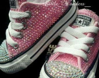 31633536d1230 Bling Pearl Rhinestone Converse in 2019 | shoes | Girls pink ...