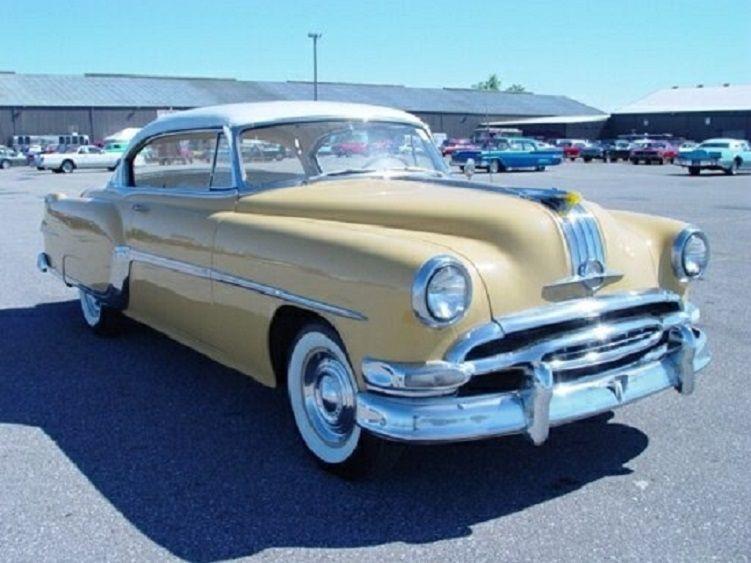 1954 Pontiac Star Chief Yellow Custom Catalina 2 Door Hardtop With White Roof Pontiac Star Chief Pontiac Cars Classic Cars Muscle