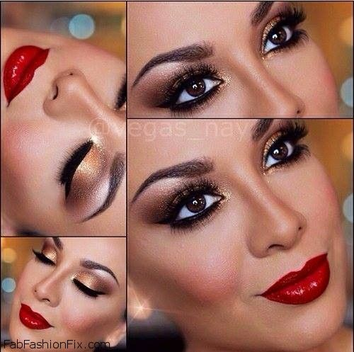 Golden Smokey Eye Makeup Tutorial By Lisa Eldridge Smokey Eye