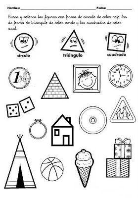 Diversas fichas para imprimir sobre ángulos, triángulos