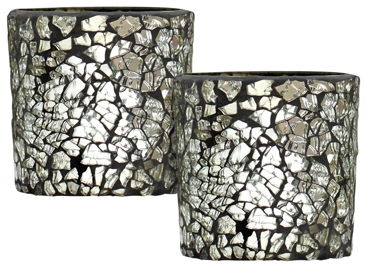 Caribbean nights set of uu tea light holder in tempered
