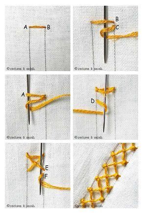 How to do the Knotted Diamond Stitch – Sarah's Hand Embroidery Tutorials – Sticken