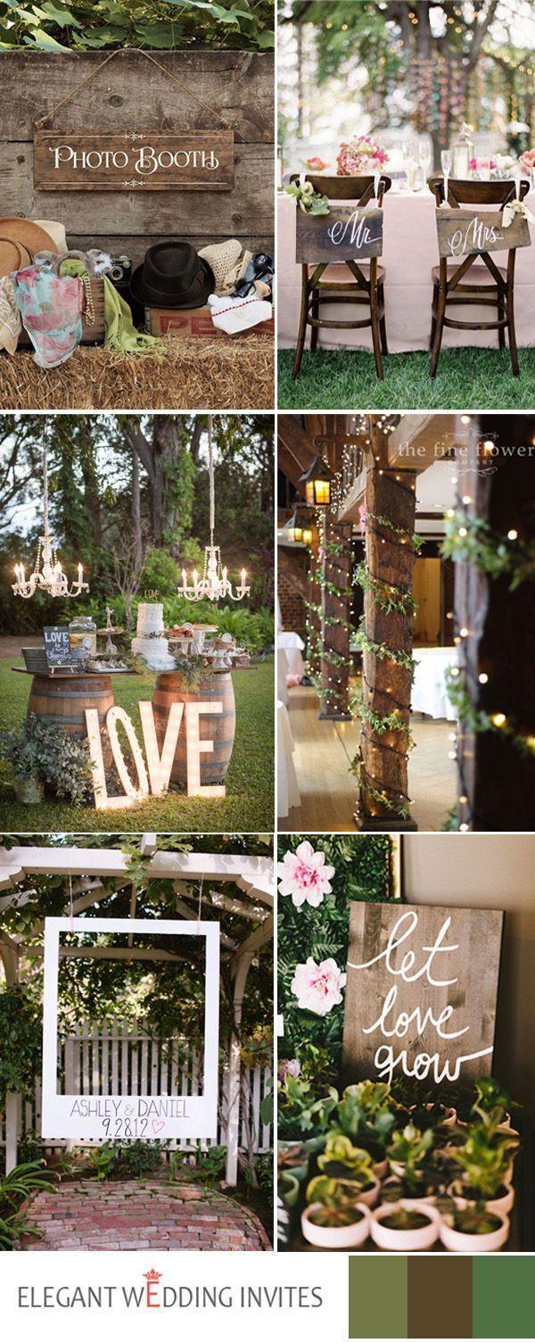 2017 rustikale Hochzeitsideen mit Lichterkette