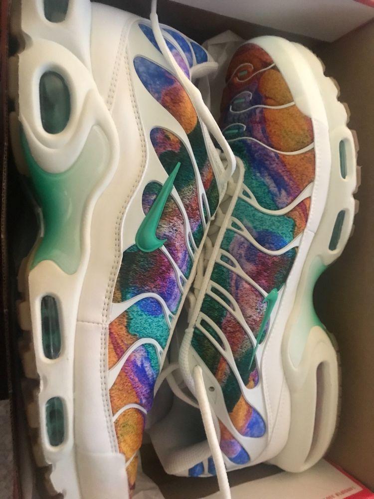 Nike Air Max Plus TN Tuned 1 Print White Rainbow Multi