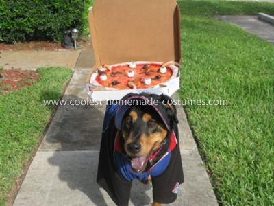 Coolest Domino S Delivery Dog Costume Pet Halloween Costumes Dog Costume Cool Pets