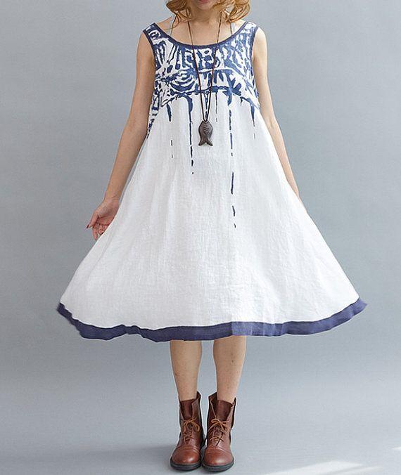 fashion Summer Sleeveless linen long dress by MaLieb on Etsy, $99.00