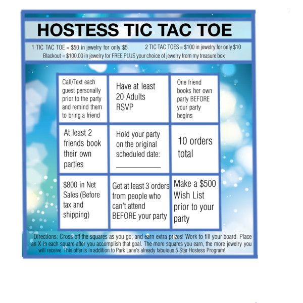 Hostess Tic Tac Toe by corkstu on Polyvore featuring art Park - sample tic tac toe template