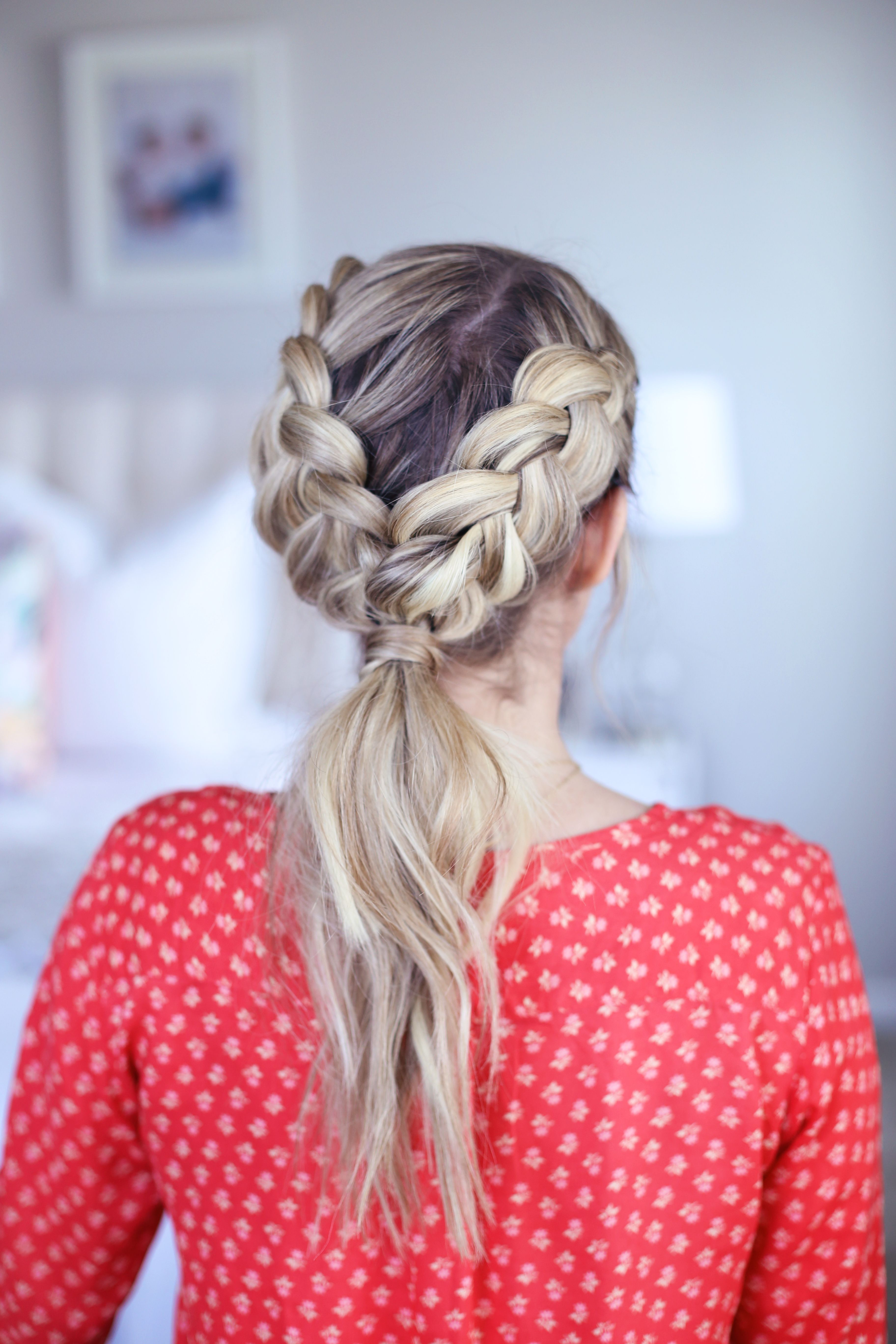 Double dutch ponytail cute girls hairstyles my style pinterest