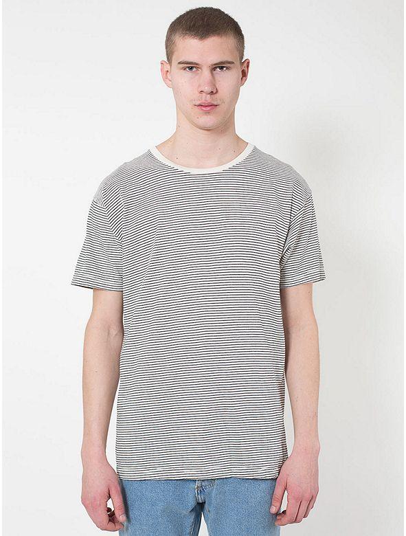 Striped Cotton Crewneck T-Shirt