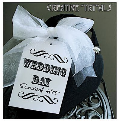 Wedding Day Survival Kit Nice Touch Great Shower Gift Too