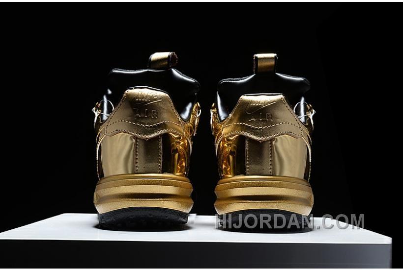 NIKE LUNAR FORCE 1 DUCKBOOT Black Gold in 2020 | Nike lunar