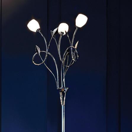 swirl 3 light floor lamp dunelm living room floor. Black Bedroom Furniture Sets. Home Design Ideas