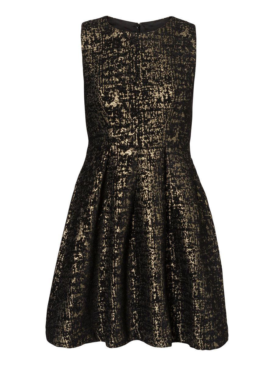 cfc7c16a0f58 Black and gold printed party dress from VERO MODA.
