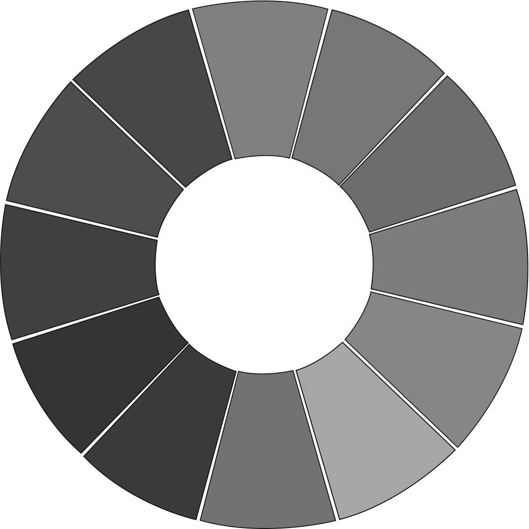 Color Wheel Black And White Teaching Value Color Theory