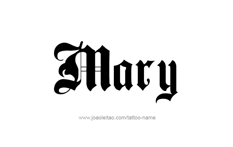 Mary Name Tattoo