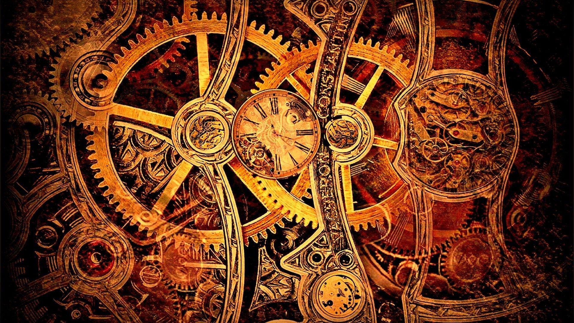 gears wallpaper clocks steampunk - photo #4