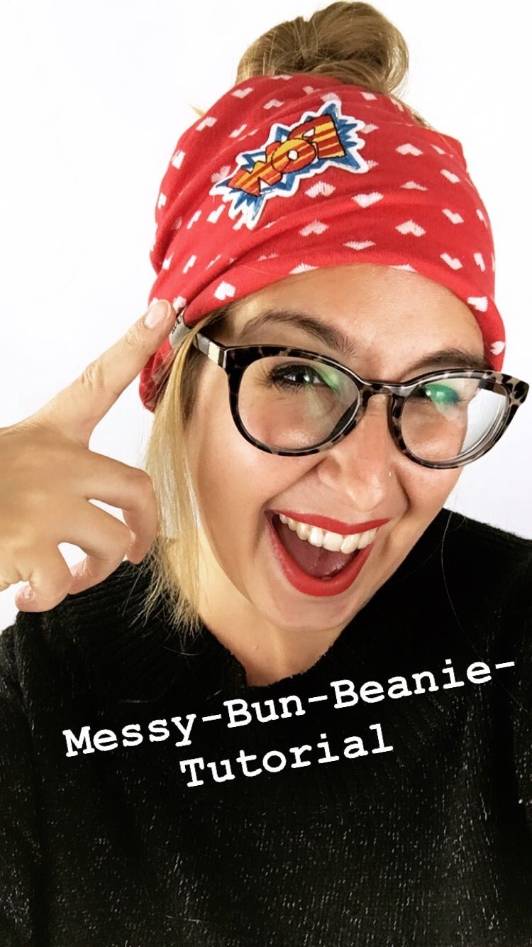 Messy Bun Beanie Tutorial