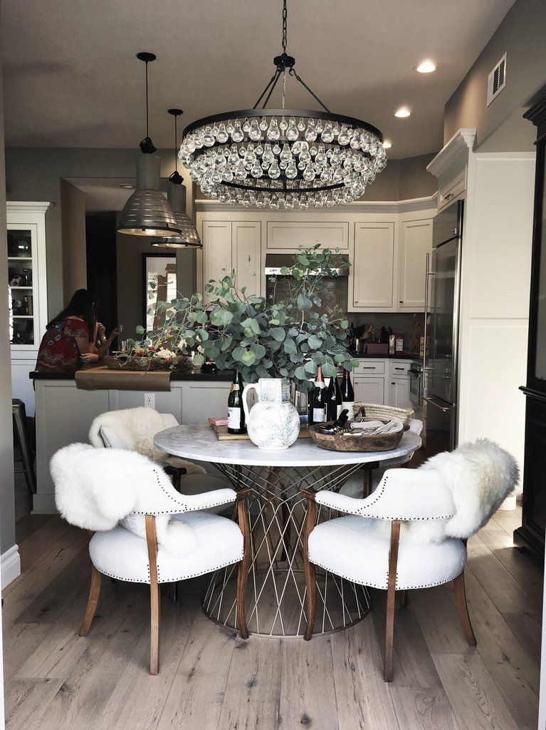 Chandelier For My Dining Room Kitchen Table Decor Round Dining Kitchen Dining Room