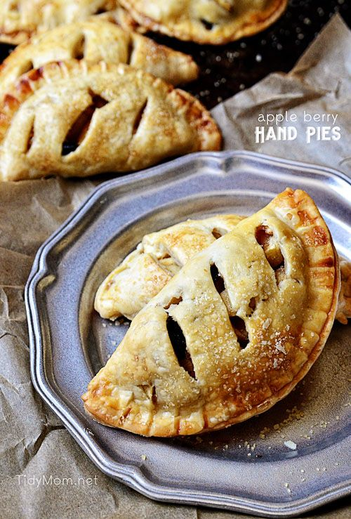 take and go treat Apple Berry Hand Pies   recipe at TidyMom.net