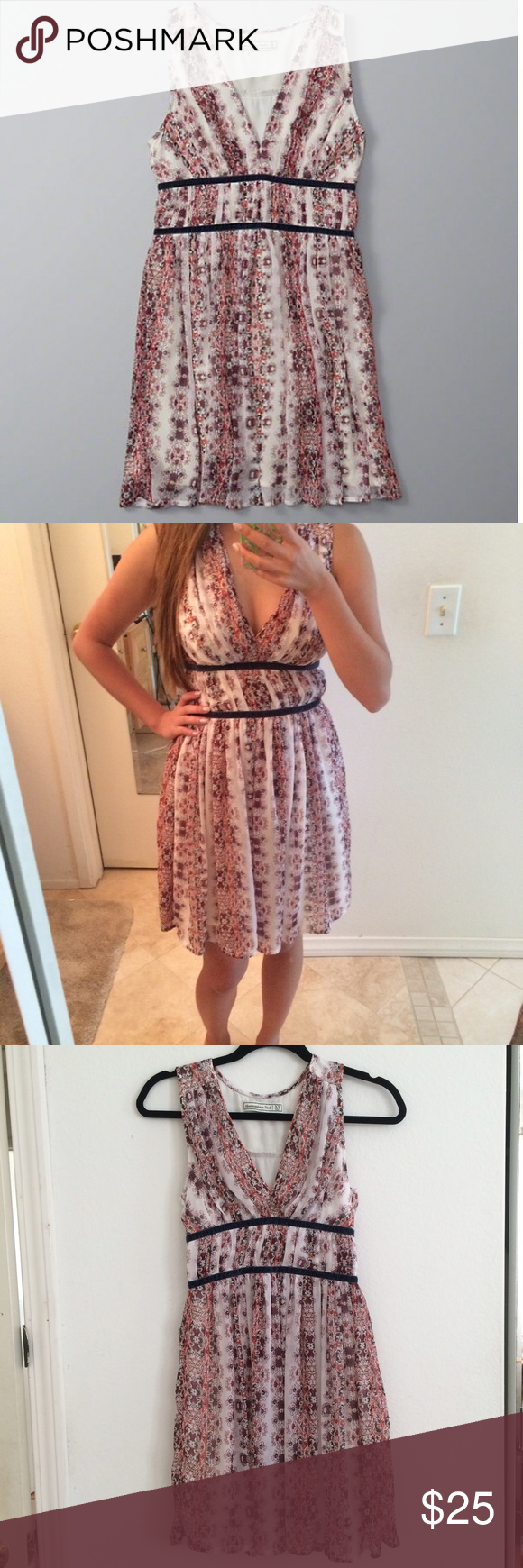 Abercrombie & Fitch Printed Dress Worn once. Side zip, eye hook closure. Abercrombie & Fitch Dresses