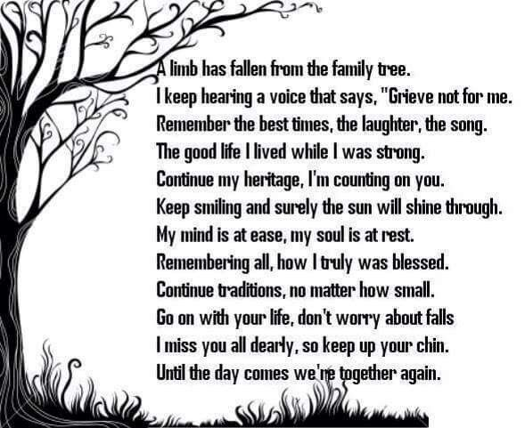 Remember The Good Times And Do Not Be Sad For Me Grief Is