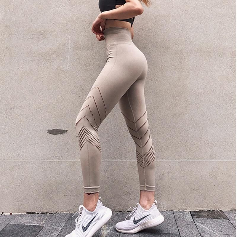 ed7bd07f9d Women's Yoga Pants High Waist Fitness Gym Pants Seamless Leggings ...