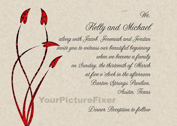 2nd Marriage Wedding Invitations: Wedding Invitations/ Blended Family