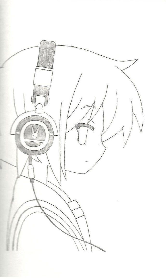 Anime Boy With Hoodie And Headphones How To Draw 2019 Headphones Drawing Girl With Headphones Headphone Sketch