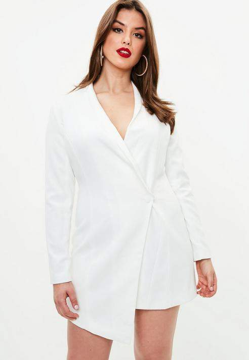 Curve White Blazer Dress Plus Size Plus Size Dresses Pinterest