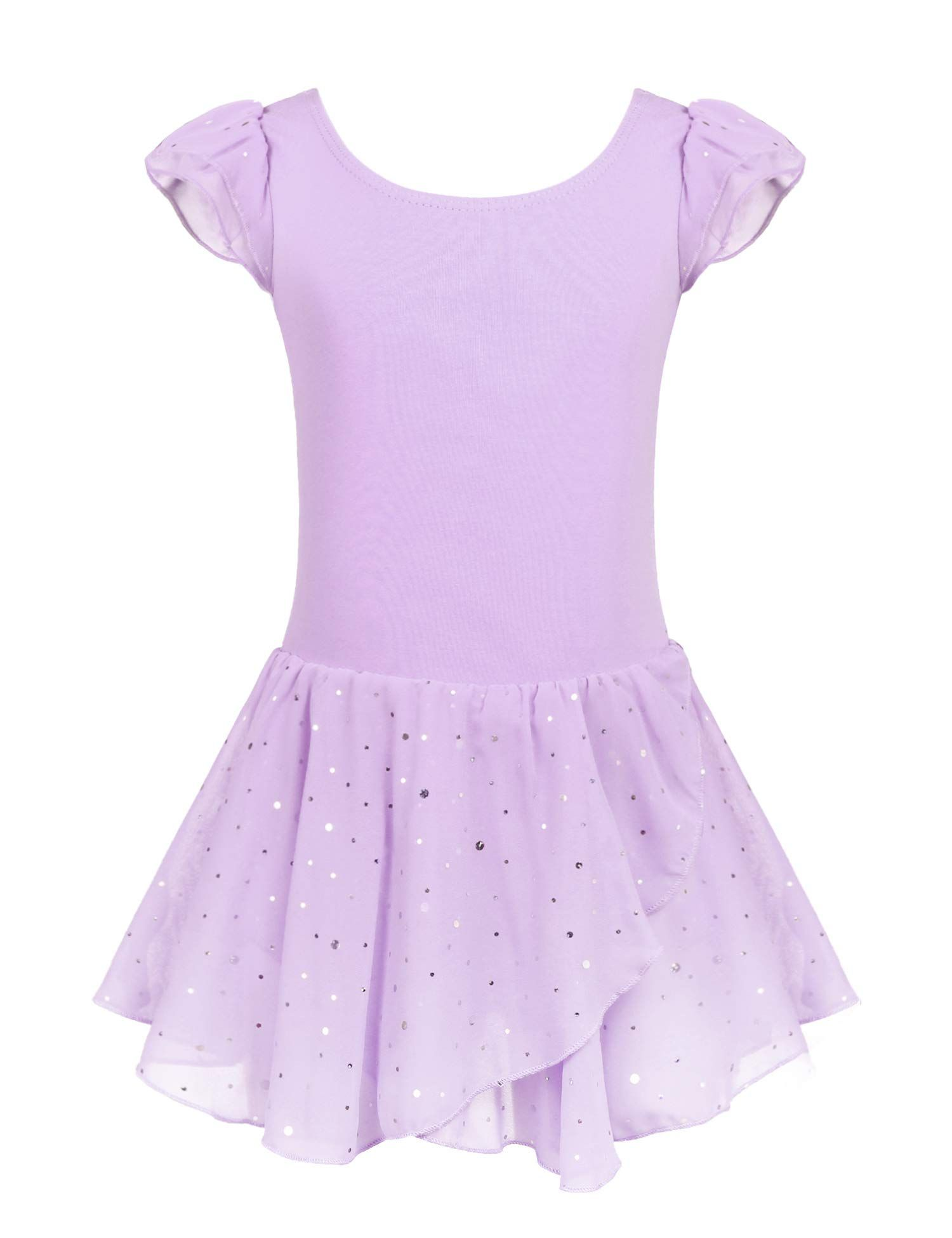 STELLE Short Sleeve Ballet Leotard with Dance Skirt and Dance Tight Combo
