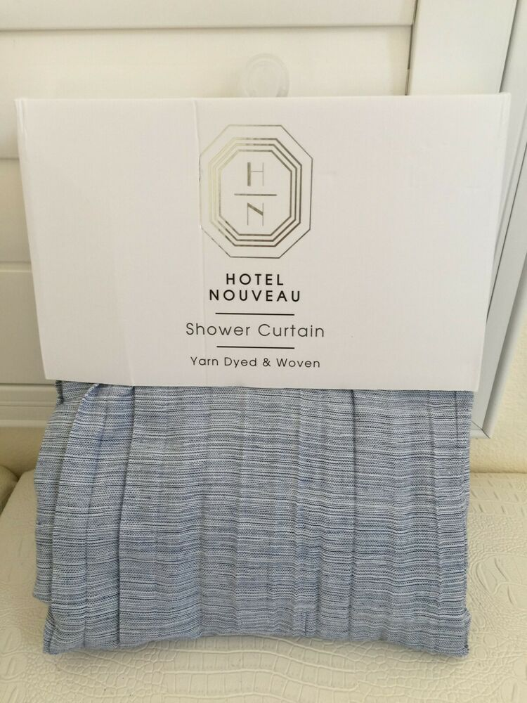 Hotel Nouveau Yarn Dyed Romantic Shower Curtain Fabric Polyester