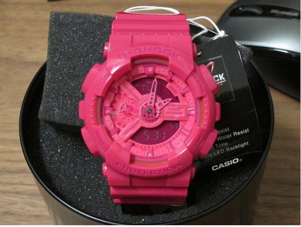 edbe6641208173 G-Shock Hyper Color Pink GA-110B-4 Limited Rare Watch #GShcok #Outdoor