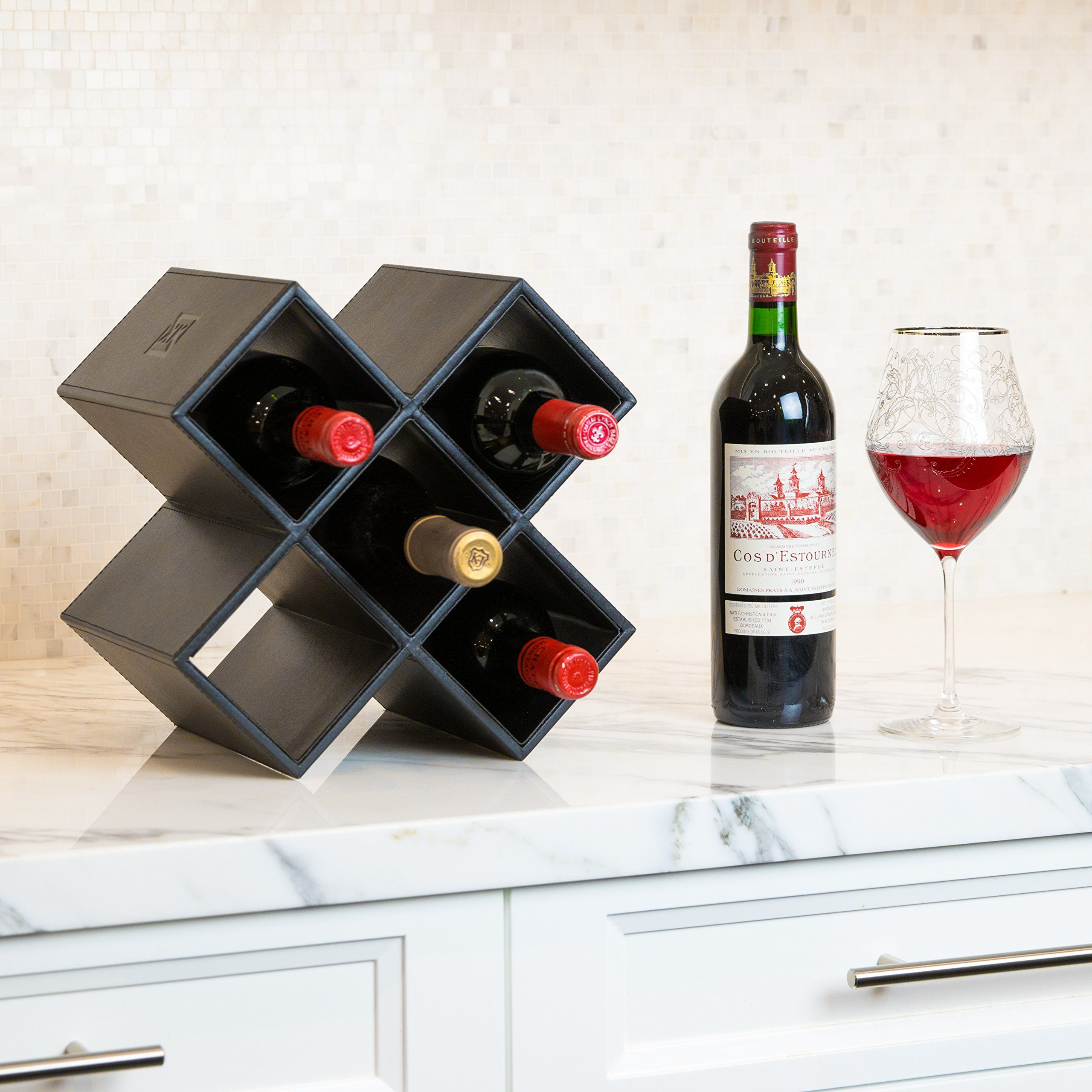 Kaydian Krafts Countertop Wine Rack 6 Bottle Decorative Tabletop