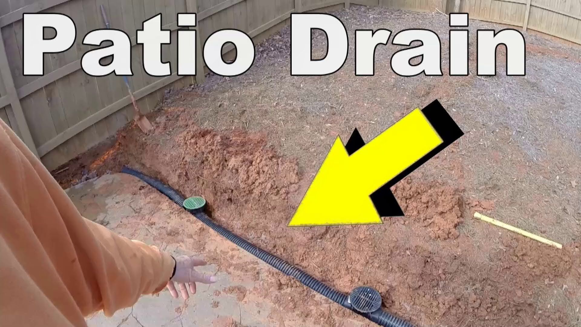 do it yourself install a patio drain remove standing water from