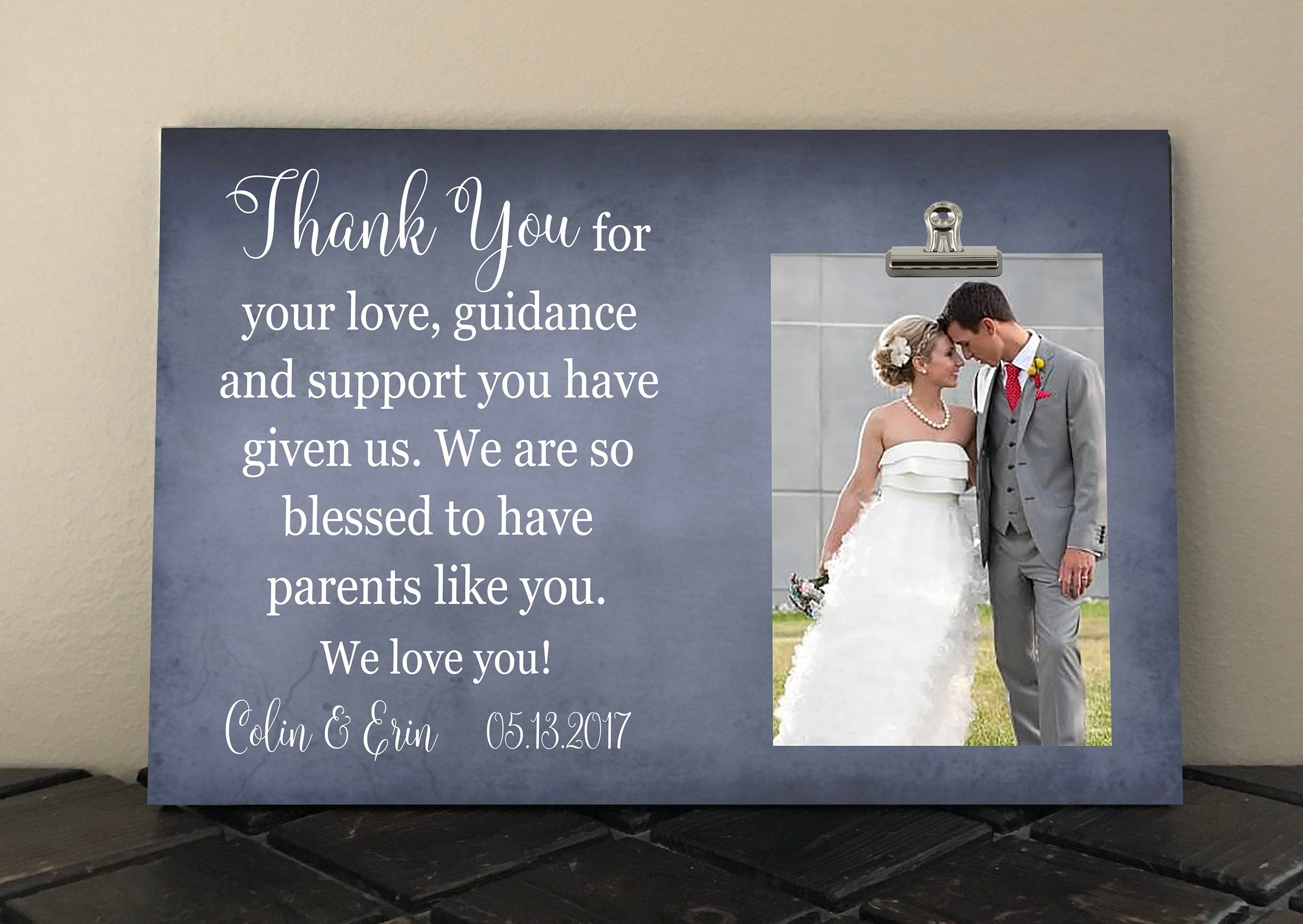 Wedding Gift For Parents Of The Bride And Groom Thank You For Etsy Wedding Gifts For Parents Wedding Wedding Gifts
