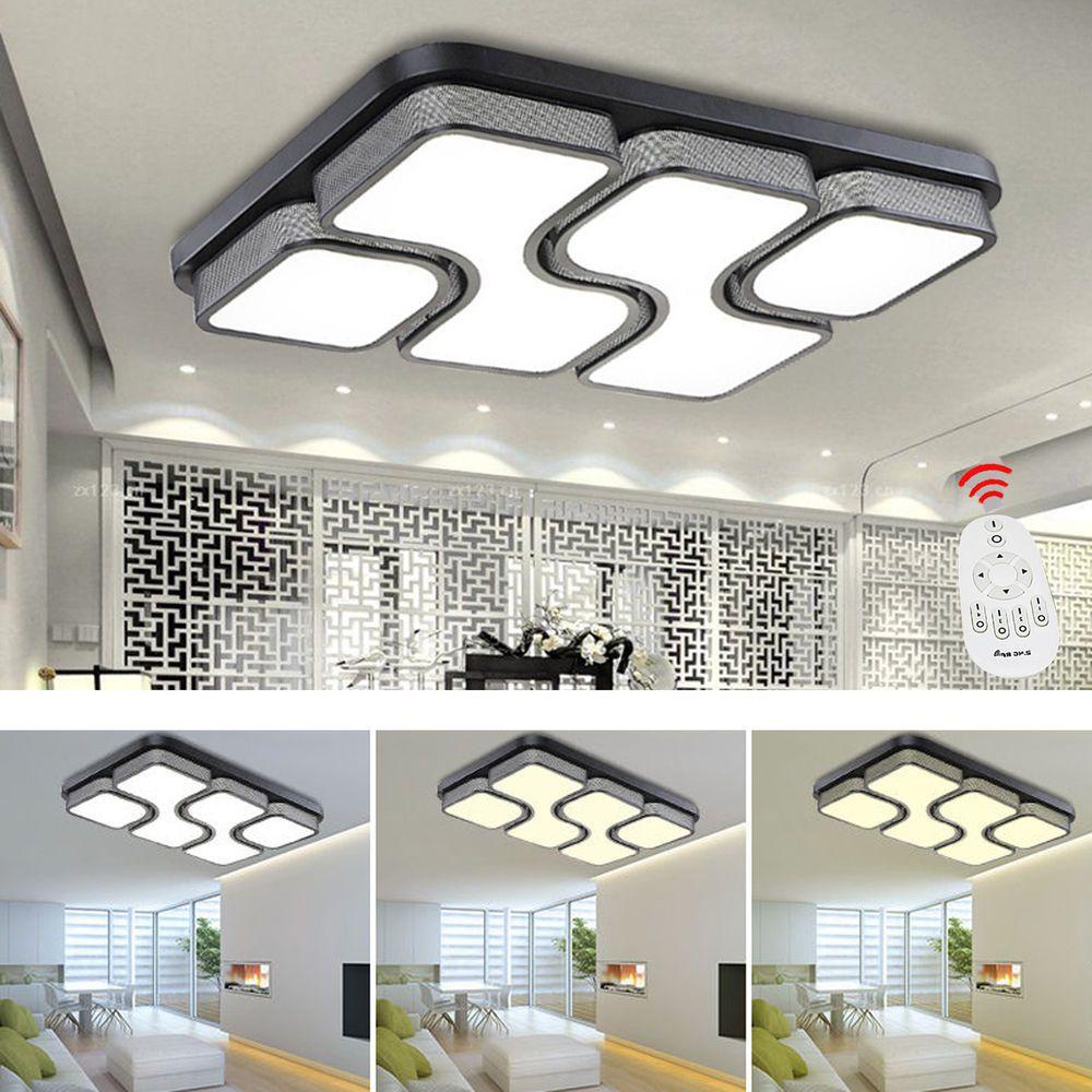 24W 80W Design LED Deckenlampe Dimmbar Led Deckenleuchte Wohnzimmer Lampe Mit FB In Mbel
