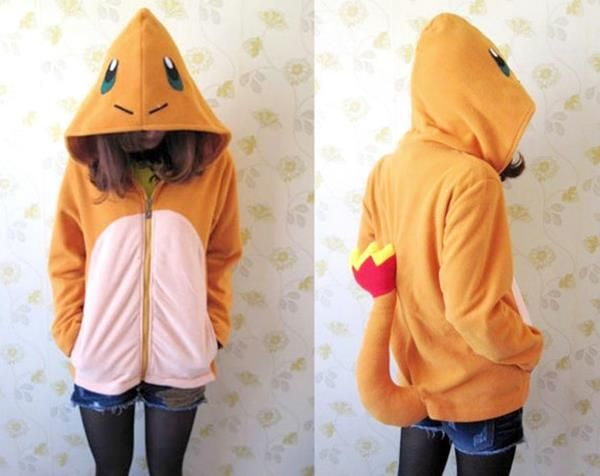 This Charmander Hoodie Has A Tail! | Happiness in Hoodies | Pinterest