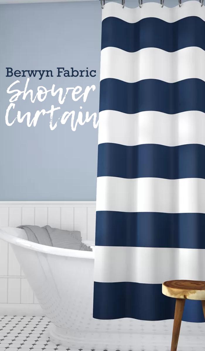 Berwyn Fabric Shower Curtain gives that spa-worthy space a splash of ...