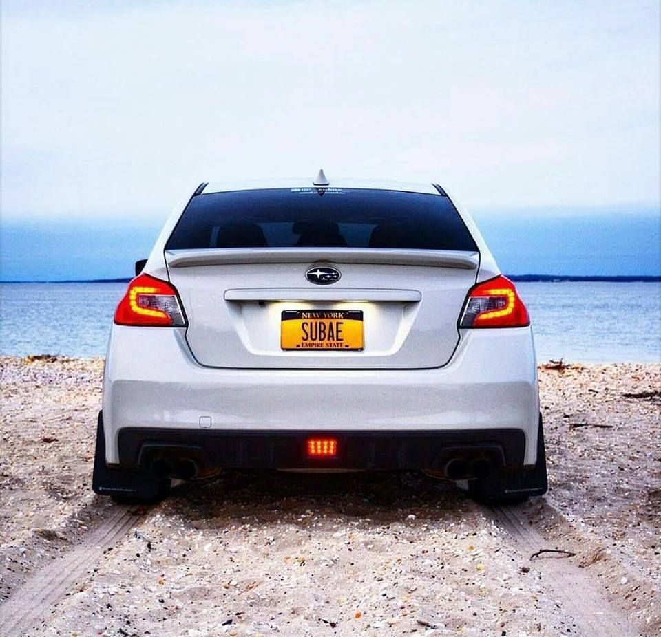 2017 subaru wrx limited with smoked out taillights window tint and red calipers epiccustoms customsubaru epic mid size vehicles pinterest subaru