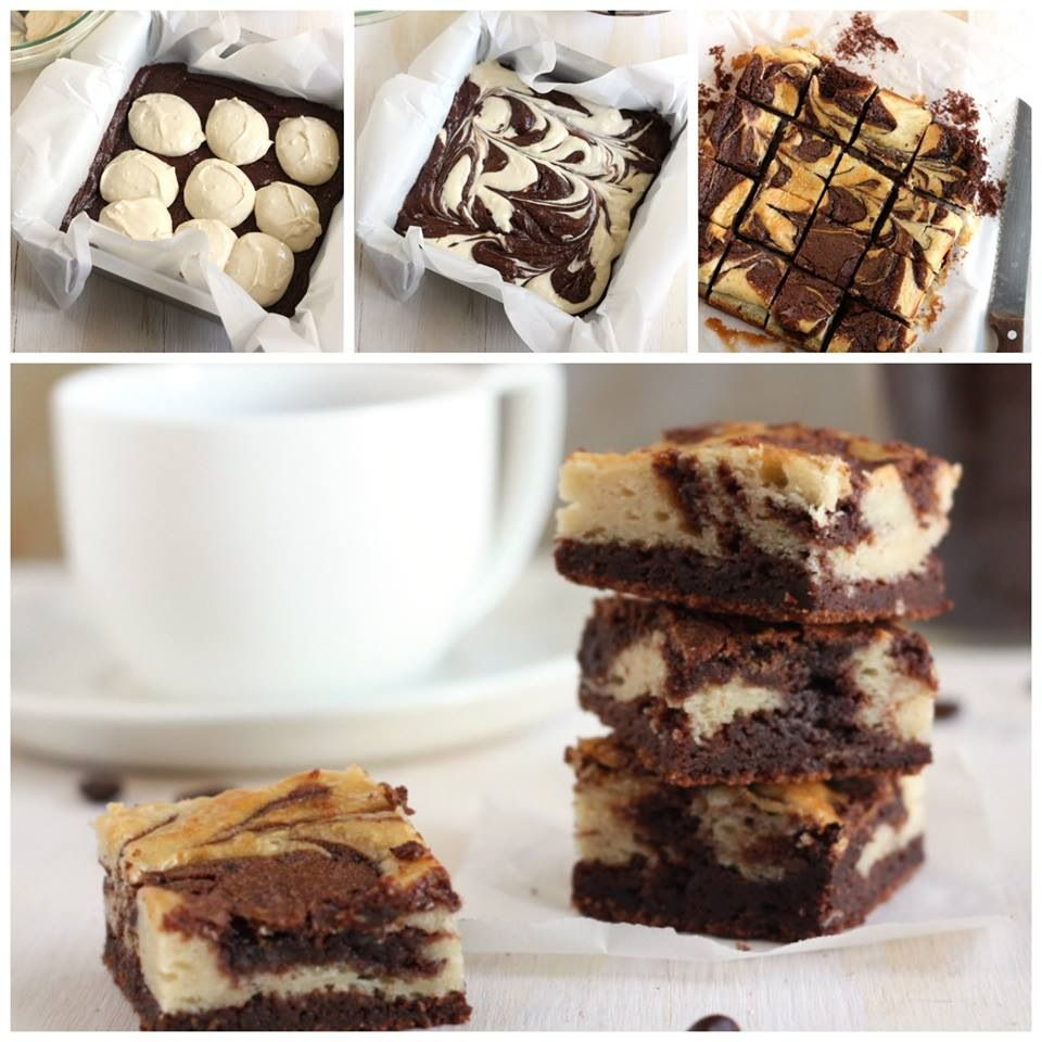Swirled cream cheese brownies | Sweets for the Sweets | Pinterest